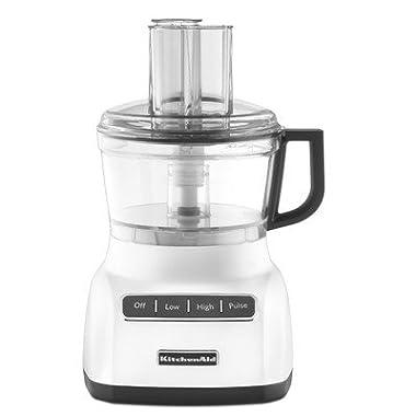 KitchenAid KFP0711WH 7 Cup Food Processor, White