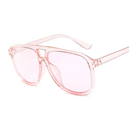 ShSnnwrl Gafas De Moda Gafas De Sol Gafas De Sol Coloridas De Moda para Mujer, Gafas De Sol De Piloto, Gafas Rojas Transparentes Vintage para Mujer, Rosa