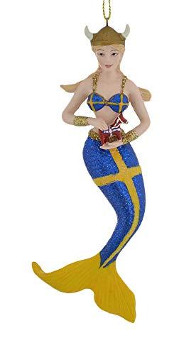 Kurt Adler Sweden International Mermaid Ornament