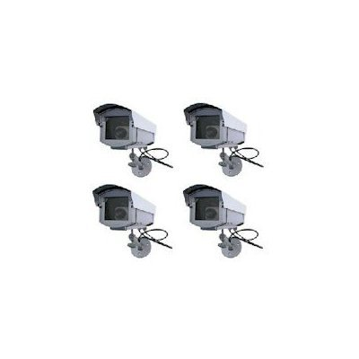 4 - Dummy Outdoor Security Cameras Imitation CCTV with Outdoor Cover
