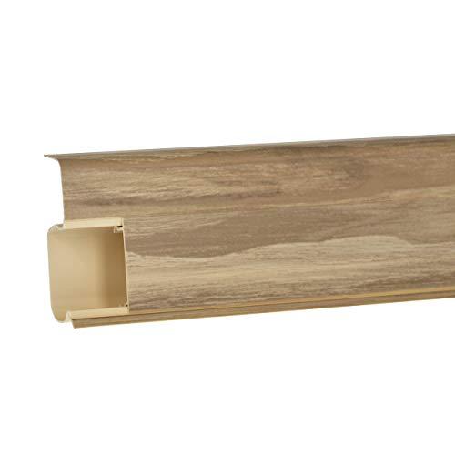 Quadro Außenecke 55mm PVC Leiste Farbe: Esche weiß Laminat Fussleisten