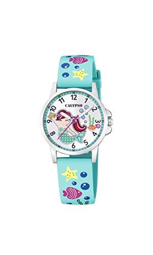 Calypso Reloj Analógico para Niñas de Cuarzo con Correa en plástico