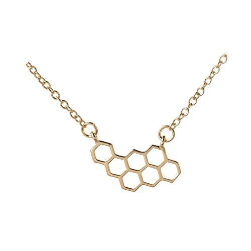Mode Accessoires Bijenkorf Vorm goud Hanger Kettingen voor Vrouwen Kleine Honingraat Zomer Stijl Sieraden