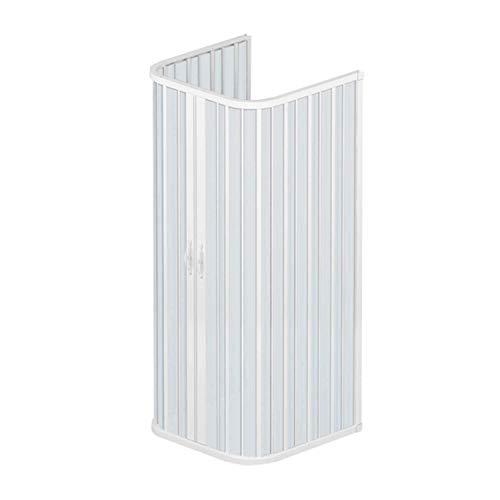 ROLLPLAST PINTO Dreiseitige PVC Duschkabine 80x80 mit zentraler Öffnung Mod. Ariete
