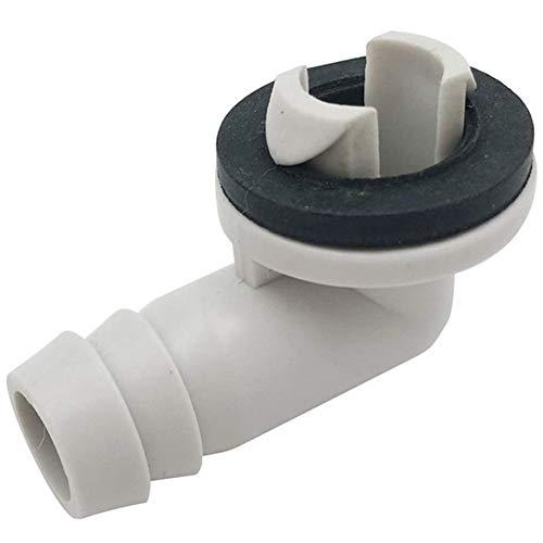 Ming Ming -Aria Conditioner AC Scarico Connettore del Tubo Flessibile Raccordo a Gomito con Anello in Gomma for Il Mini-Split unità E Finestra AC unità di 3/5 di Pollice (15 mm) (Color : White)