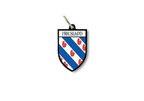 Sleutelhanger Sleutelhanger Ring Vlag Nationale Souvenir Shield Oost Fries