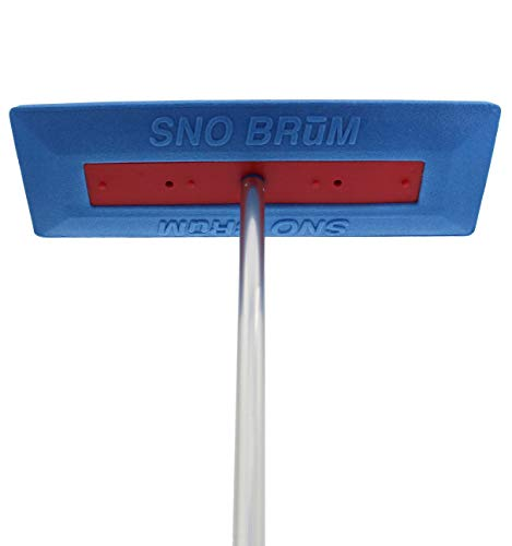 SNOBRUM – Snow Remover for Cars and Trucks – 28 to 48 Inch Snow Brush with Foam Head and Compact 3 Piece Handle – Made in The USA, Push-Broom Design – No-Scratch Snow Removal – 1 Pack