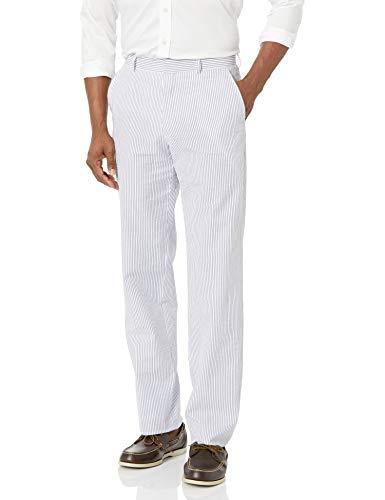 Palm Beach Men's 7255-Oxford Plain Big-085B, Navy/White, 46 Regular