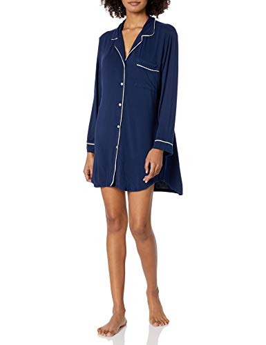 Eberjey Gisele Classic Women's Pajama Sleepshirt Navy/Ivory