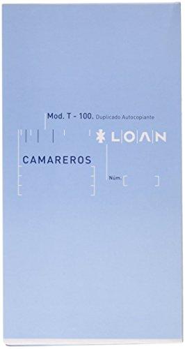 Loan T-100 - Talonario camarero, 210 mm x 110 mm 2t