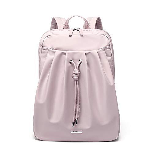 Vinteen Oxford Tuch Rucksack Dame Taschen Laptoptasche Wilde Rucksack Mode High School Studenten Schultasche Umhängetaschen Handtasche Wasserdichte Tasche (Color : Pink)