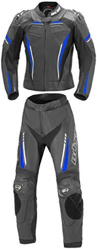 Büse Imola 2-Teiler Damen Motorrad Lederkombi Schwarz/Blau 36