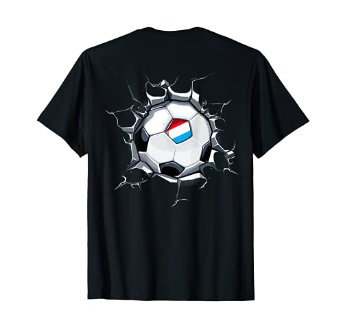 Luxemburgo Fútbol en Pared Agrietada Bandera De Luxemburgo Camiseta