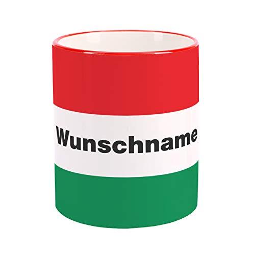 Herz und Heim® mit Wunschnamen & Flagge - Ungarn -