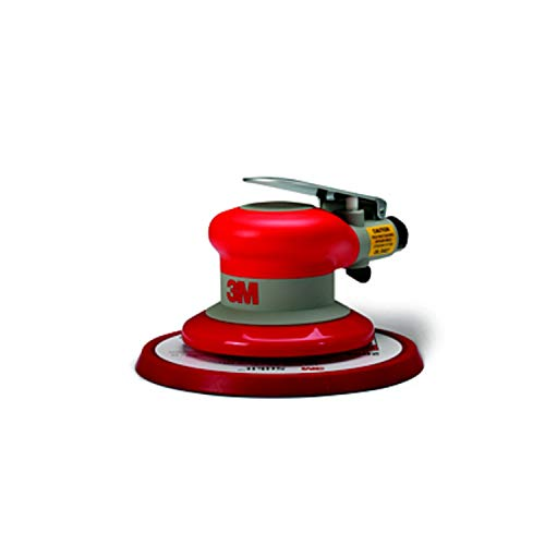 "3M Random Orbital Sander – Pneumatic Palm Sander – 6"" x 3/16"" Diam. Orbit – Stikit Disc Pad – For Wood, Composites, Metal – Original Series"