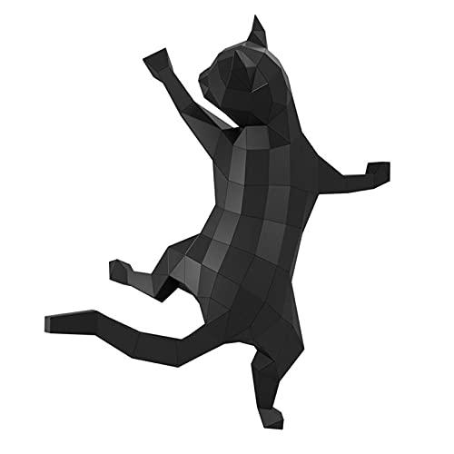 Origami modelo de papel 3D talla de papel composición tridimensional DIY adornos creativos hechos a mano gato 3D escalando la pared tipo montado en la pared manualidades de bricolaje escultura rompe