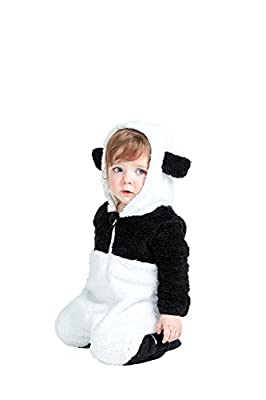 Animal Style Cute Panda Baby Bodysuits, All In One Jumpsuit, Super Soft Fleece … (2T)