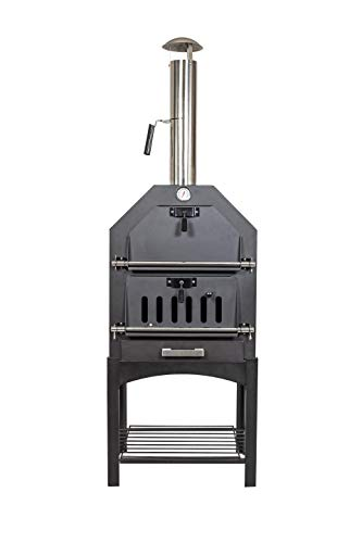 La Hacienda Multifunction Wood Fired Oven, Black, 56173