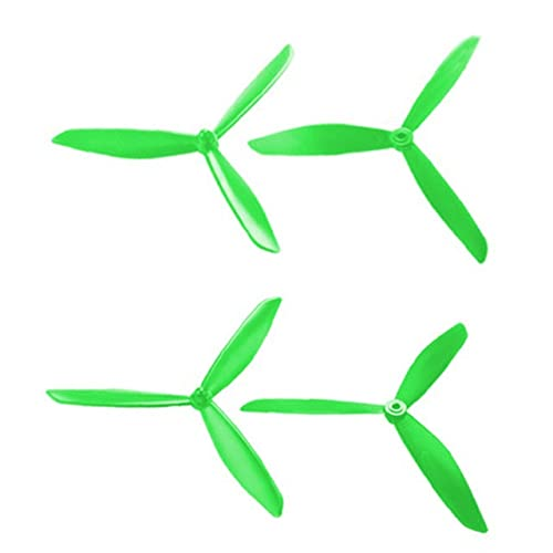 Elica del Drone 50. 1s X4 HS700. Banderuola Triangolo aggiornata MJX B3 B3 PRO B2SE RC Quadcopter Drone. (Mjx. Bugs 3) Accessori for Parti di Riparazione (Color : Green)