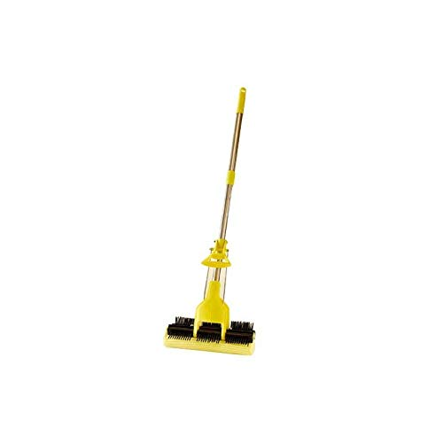 Balai-serpillière réversible manche télescopique (Balai réversible pratique pour nettoyage à l'eau ou à sec)