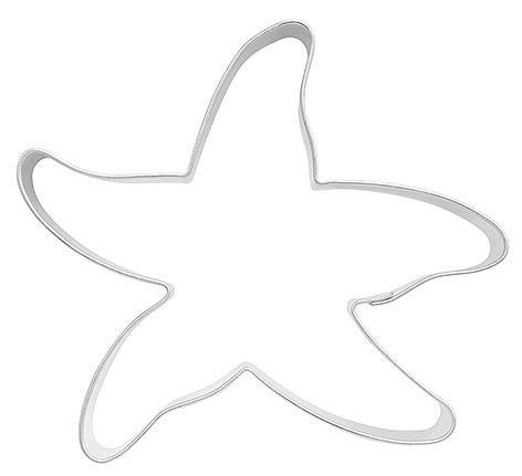 Ausstechform Ausstecher Seestern, 8cm, Weissblech