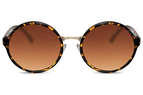 Cheapass Occhiali da Sole Donna Grandi Marroni XXL UV-400 Premium Qualità Donna