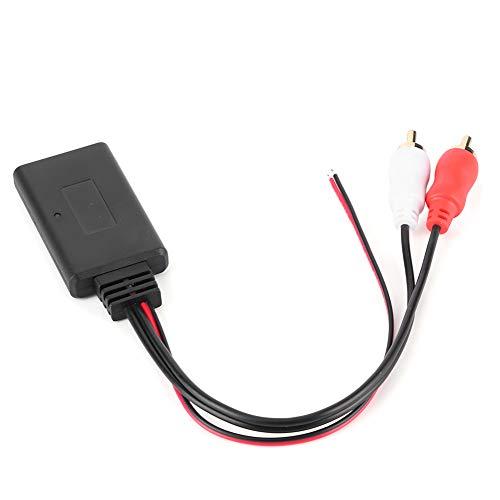 Qiilu Raccordi Bluetooth per auto , adattatore per modulo Bluetooth wireless universale AUX o 2 Connettore per autoradio con cavo ausiliario RCA