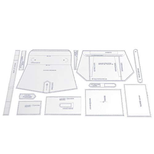 MagiDeal 12 Piezas/Juego de Plantillas Acrílicas con Diseño de Plantilla Handamde Bag para Mujeres Y Niñas