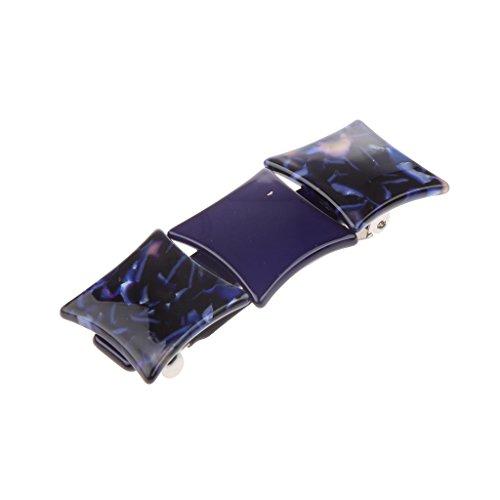 Generic Haarspange - Haarclip - Französisch Barrette - Haarklammer - Zopfhalter - Pferdeschwanzhalter - Haarschmuck - Blau