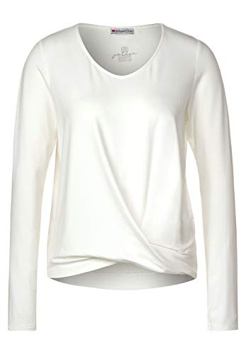 Street One 315493 T-Shirt, Bianco Sporco, 42 Donna