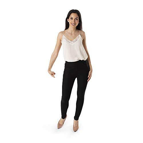 Trendcool. Leggins Mujer Vestir Negro. Pantalones Mujer Elegantes. Leggins Mujer Negros. Cómodos Leggins para...