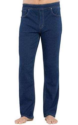 PajamaJeans Mens Elastic Waist Jeans - Mens Jeggings, Bluestone Wash, XX-Large