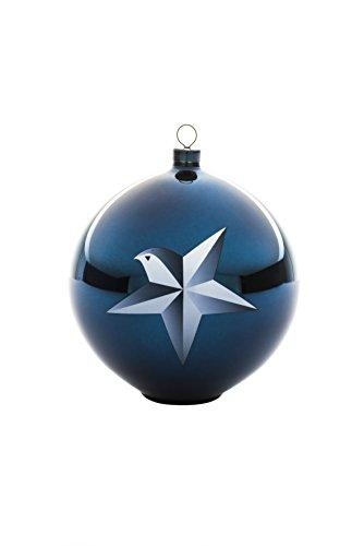 Alessi Blue Christmas AAA07 1 Decorazione per Albero di Natale, Vetro soffiato, Blu, 10x10x10.70 cm