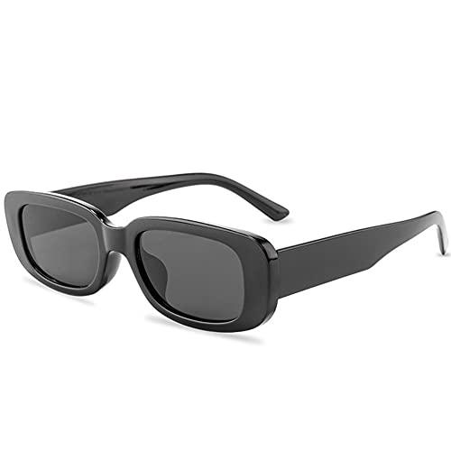 XCSM Gafas de Sol rectangulares para Mujeres, Hombres, Moda, Gafas de Sol cuadradas Vintage, protección UV400, Gafas Retro, Gafas de Playa para Exteriores