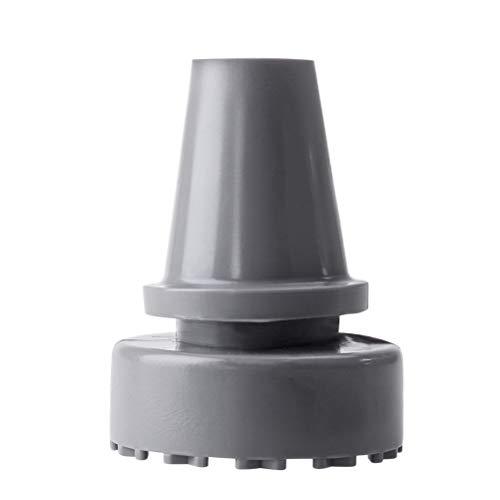 Healifty Krückenkapsel Große Auflagefläche Gehhilfenfuß rutschfest Gummipuffer Krücke Tipps 19mm 2 Stück (Grau)