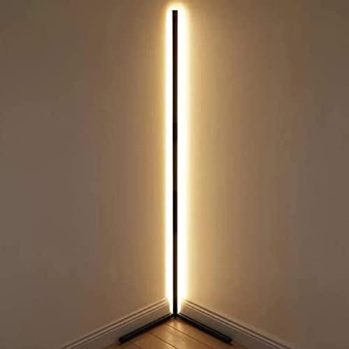 HSART LED Stehlampe Eck Stehlampe Stehlampen.43 Inches Stehleuchte mit RGB Farbwechsler und Fernbedienung,Monochrome warm Light