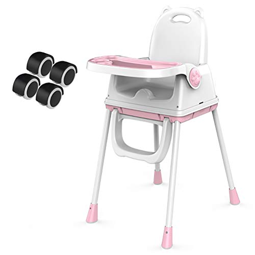 Best Bargain YRE Children's Dining Chair Baby Meal Table Chair, Portable IKEA Foldable Multifunction...