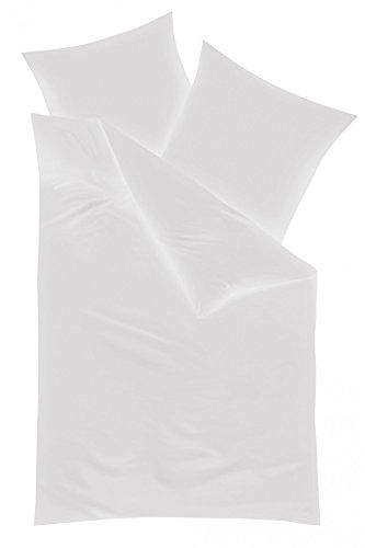 KAEPPEL Feinbiber-Bettwäsche unifarben, 2-tlg. weiß, 135X200 CM