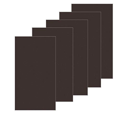 Leather Repair Patch, First-aid Adhesive for Sofas Car Seats Adhesive Handbags Jackets, Leather Repair Kit 5 pcs (Brown)