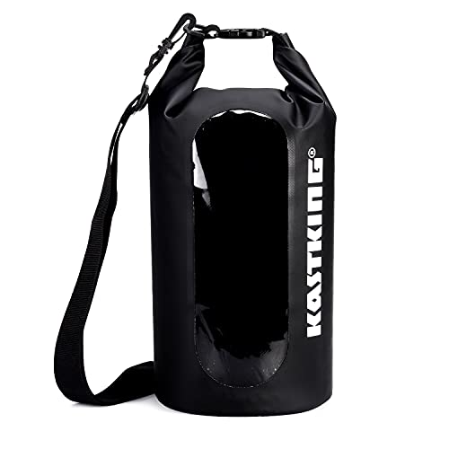 Photo of a black colored KastKing Waterproof Roll Top Dry Bag 30L