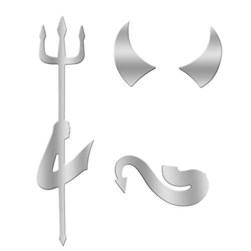 rongweiwang Ángel 3D patrón de Coche Coche Pegatinas Pegatina para el Coche pequeño Diablo del Demonio de la Etiqueta engomada