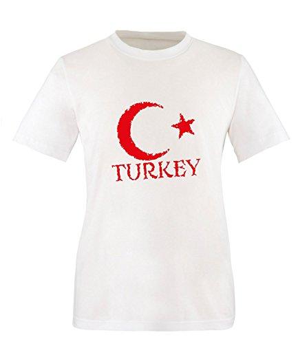 Luckja EM 2016 Trikot Türkei Fanshirt EM01 Herren Rundhals T-Shirt