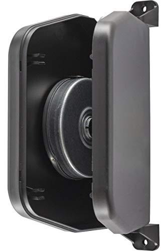 Schellenberg 50152 Gurtwickler Aufputz, Aufschraubwickler aufklappbar, passend für 14 mm Gurtbreite (System Mini), Lochabstand 15,5 cm/Montage ohne öffnen des Rolladenkastens