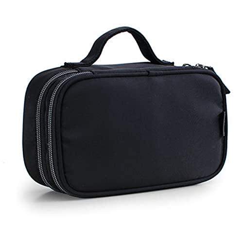 JSBAN Make-up-Tasche Fall stilvoller wasserdichter Kosmetiktasche Reise Organizer Schönheitskoffer-Kultur-Kit für Mini-Bleistift-Gehäuse WC-Tasche (Color : Black XL)