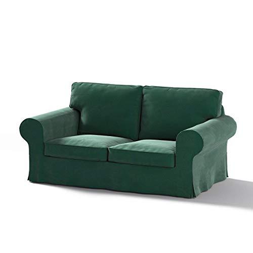 Dekoria Ektorp 2-Sitzer Sofabezug Nicht ausklappbar Sofahusse passend für IKEA Modell Ektorp dunkelgrün