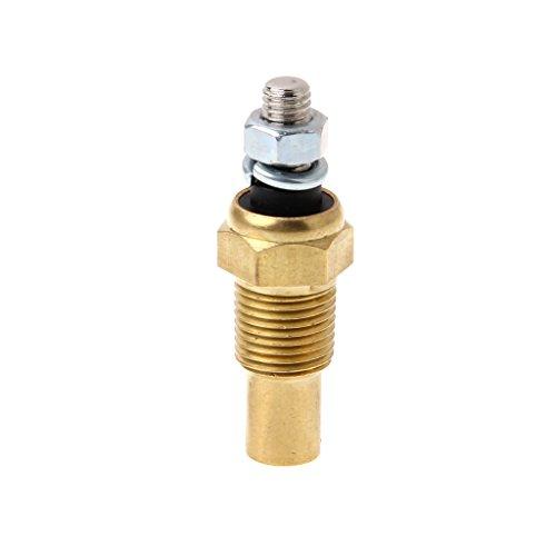 Gwxevce 1/8 NPT Temperatur-Temperaturfühler Wasser-Öl-Einheit Geberanzeige Elektrischer Geber VDO Wasser-Temperaturfühler Gold