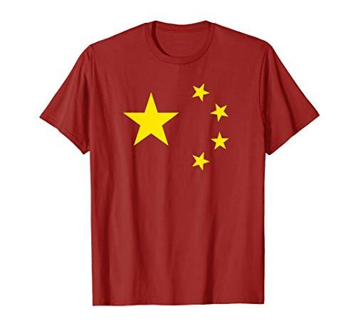kommunistische Propaganda Chinesische Fünf-Sterne-Rote Fahne T-Shirt