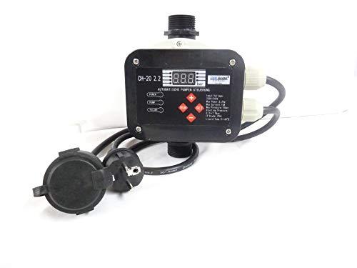 CHM GmbH® Digitale vollautomatische Pumpensteuerung CH20 mit Sensor Technologie ! Master-Chip und Drucksensor steuern das EIN- und Ausschalten der Pumpe. Für Pumpen bis 2,2 kW.