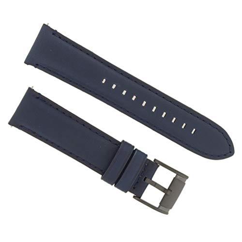 Fossil Correa para reloj de pulsera de 22 mm, piel, azul, FS-5061 / LB-FS5061