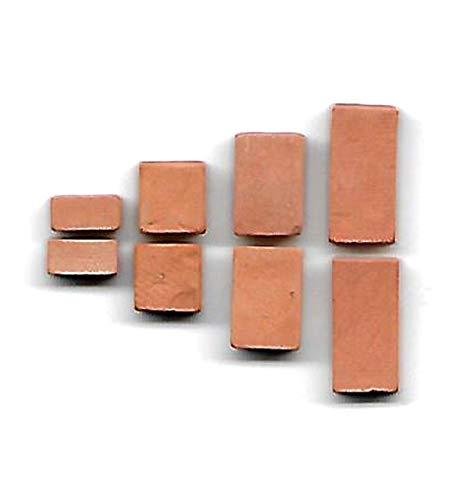 Aclouddate, Backsteine 16x8x4mm,12x8x4mm,8x8x4mm,4x8x4mm, für SteinBaukasten, 200 Stück - ziegelrot für Modellbau